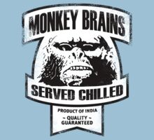 Monkey Brains (B&W Print) by GritFX