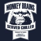 Monkey Brains (White Print) by GritFX