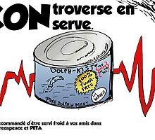 Viande de dauphin caricature éditoriale des affaires by Binary-Options