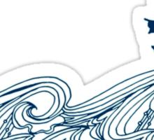 Journey's crest ahoy! Sticker