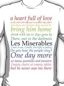 Les Miserables Lyric Design T-Shirt