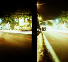 Late Night Tail Lights - Lomo by Yao Liang Chua