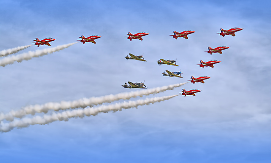 "Red Arrows And ""Eagle Squadron"" Duxford 26.05.2013 by Colin J Williams Photography"