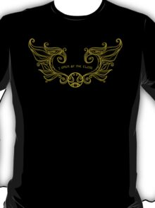 I open at the close.... Gold T-Shirt