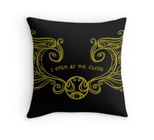 I open at the close.... Gold Throw Pillow