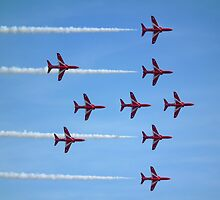 Red Arrows (Lancaster formation) by Andy Jordan