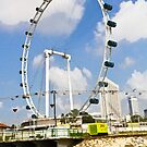 Oil Painting - The whole structure of the Singapore Flyer by ashishagarwal74