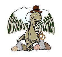 Cartoon Tyrannosaurus Dinosaur Explorer  Photographic Print