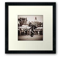motorcycle stunt 010 Framed Print