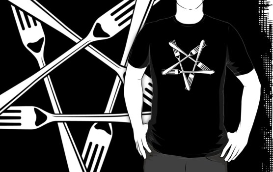 Fork Pentagram (white) by MysticIsland