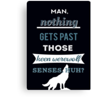 Teen Werewolf Senses Canvas Print