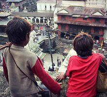 Kathmandu Beggar Boys by Jamie Mitchell