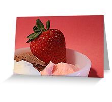 Strawberry on Neapolitan  Greeting Card