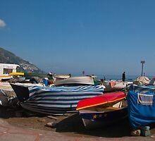 Italy - boats in Positano by Susanne Finke