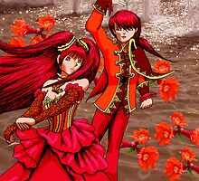 Pomegranate Blossom Spirits by LanDiMonk