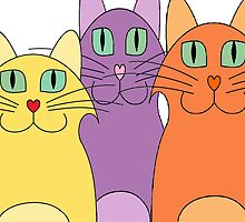 3 Cats by Jean Gregory  Evans