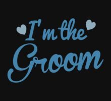 I'm the Groom wedding day design in blue by jazzydevil