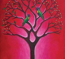 Lorikeets & Tree by Mark Zabel Art