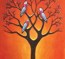 Galahs & Tree by Mark Zabel Art