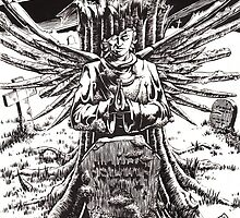 The Graveyard Book, 'The Ghoul Gate' - ink by Gee Massam