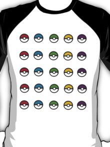 Mini Pokeballs Sticker Sheet. T-Shirt