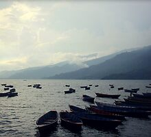 Monsoon Phewa Lake by Jamie Mitchell