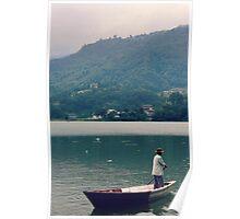 Pokhara Boatman Poster