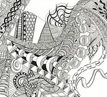 Zentangle - Abstract by Susan Theus
