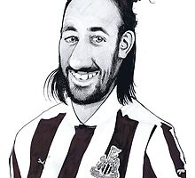Newcastle United Player - Jonas Gutierrez by Jan Szymczuk
