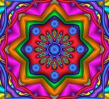 Cool Colors Kaleidoscope artwork by walstraasart