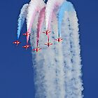 Reaching For The Sky - The Red Arrows - Duxford 26.05.2013  by Colin J Williams Photography