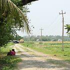 Prakashpur Village Scene by Jamie Mitchell