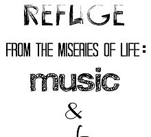 There Are Two Means of Refuge from the Miseries of Life: Music & Cats by grungeandglam