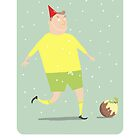 FOOTBALLING HAPPY CHRISTMAS by Jane Newland