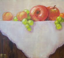 Fruit with Homespun by Terry Stanley