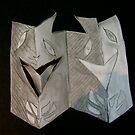 cardboard masks by evon ski