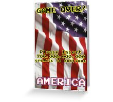 America The Game Greeting Card
