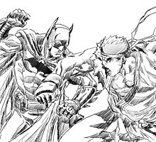Batman and Ryu by MarcWackass