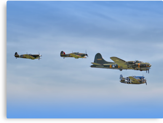 Sally B And Eagle Squadron - Duxford 26.05.2013 by Colin J Williams Photography