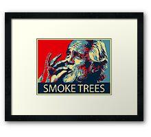 Tommy Chong - Smoke trees Framed Print