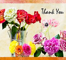 Thank You Flowers In Vase by daphsam