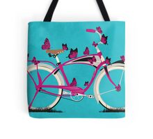 Butterfly Bicycle Tote Bag