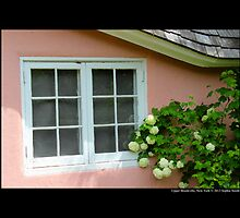 Pink Play House Window - Planting Fields Arboretum State Historic Park - Upper Brookville, New York by © Sophie W. Smith