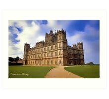 Downton Abbey Digital Art Art Print