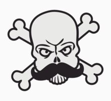 Mustache Pirate Skull by Style-O-Mat