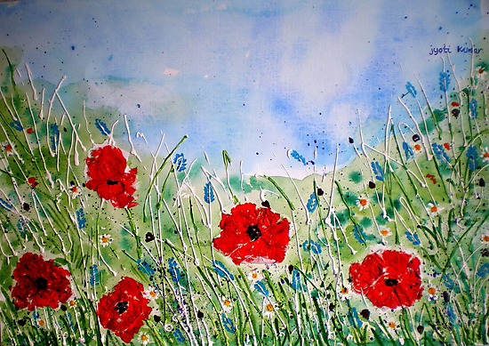 POPPY MEADOW by jyoti kumar