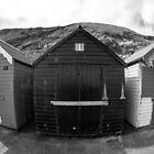 Fish Eye Beach Huts by Pixie Copley LRPS