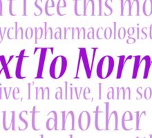 Next To Normal Lyric Compilation  Sticker