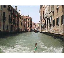 VENEZIA - DE DRIO AL CANAL MY  LOVE .... ITALIA  - EUROPA- VETRINA RB EXPLORE 6 GIUGNO 2013 -       Photographic Print