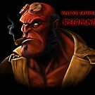 SPEED PAINTING HELLBOY by Wayne Dowsent